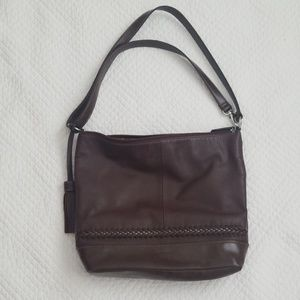 Brown Leather Crossbody Bag Tignanello Convertible